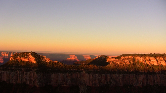Sunrise at the Grand Canyon North Rim
